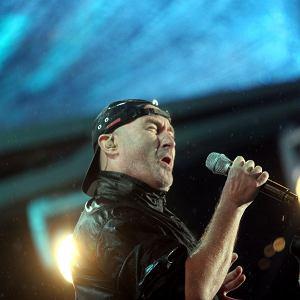 Phil Collins podczas koncertu Genesis na Stadionie Śląskim w Chorzowie 21 czerwca 2007 r.