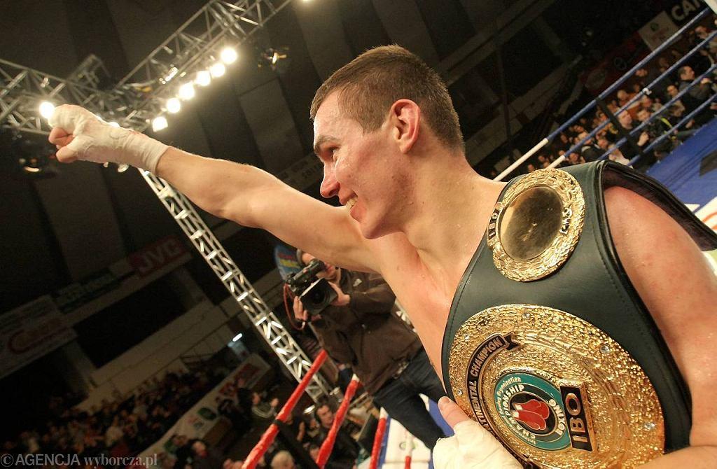 Mateusz 'Master' Masternak po pokonaniu Aliego Ismaiłowa w zawodowym boksie