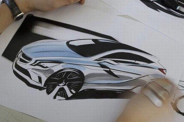 Szkic trzeciej generacji Mercedesa A klasy