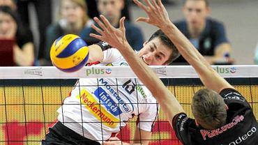 Michał Kubiak podczas meczu AZS Politechnika z Resovią Rzeszów