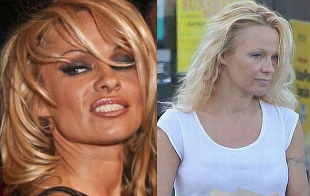 Pamela Anderson znana jest z pięknego i seksownego ciała. Niestety po raz kolejny okazuje się, że to tylko efekty zabaw z Photoshopem. Paparazzi przyłapali słynną modelkę i aktorkę na zakupach. Gwiazda była bez makijażu. Nie wyglądało to zbyt korzystnie. Zobaczcie sami.
