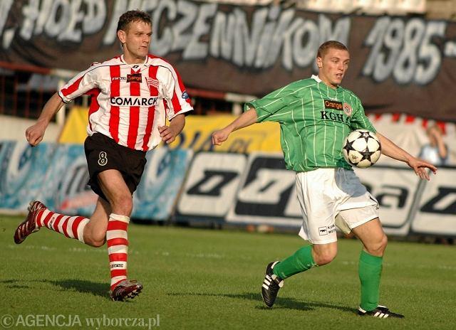 Mecz Cracovia - Zagłębie Lubin w maju 2006