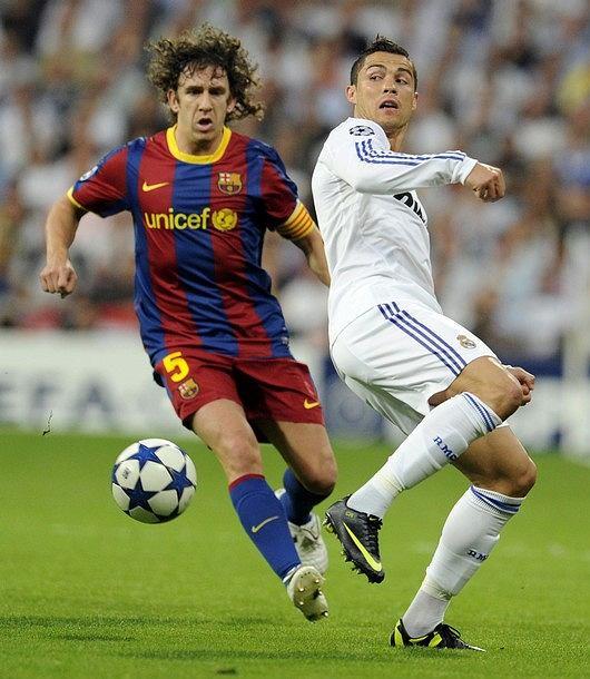 Carles Puyol i Cristiano Ronaldo