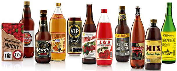 alkohole, bełt, siara, jabol, piwo