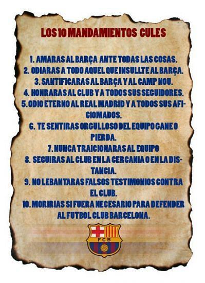 10 przykazań kibica Barcelony