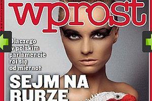 Marta Szulawiak na okładce Wprost.