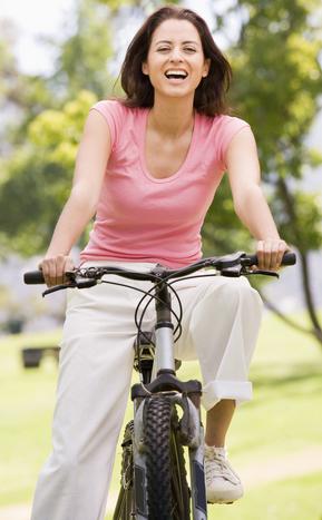 rower, uśmiech