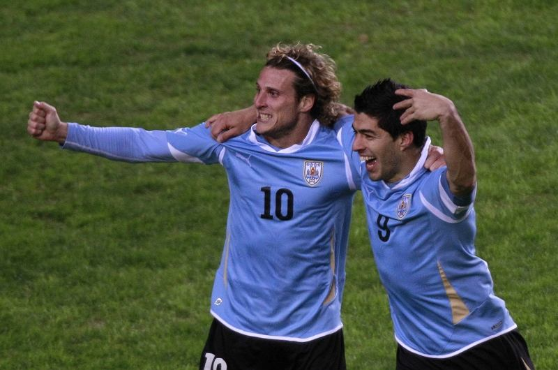 Luis Suarez, Diego Forlan
