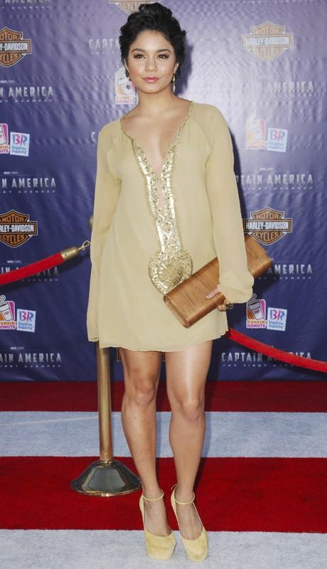 Vanessa Hudgens na premierze Captain America