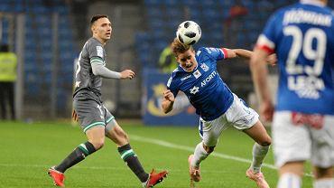 Lech Poznań - Lechia Gdańsk 0:1. Z lewej Jakub Arak