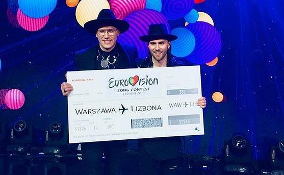 Gromee i Lukas Meijer podczas finału polskich eliminacji do 63. Konkursu Piosenki Eurowizji