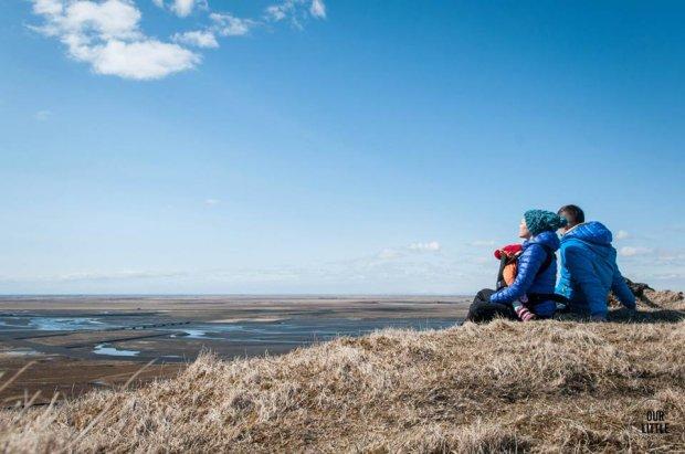 Karolina, Mariusz i Mania podczas podróży po Islandii.