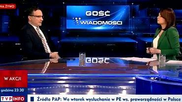 'Gość Wiadomości' 14 listopada. Minister Zbigniew Ziobro i prowadząca Danuta Holecka