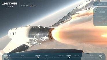 Tak wyglądał lot Bransona w kosmos na pokładzie VSS Unity. Zobacz kluczowy moment [WIDEO]