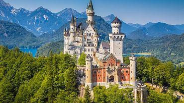 Zamek Neuschwanstein położony na terenie gminy Schwangau