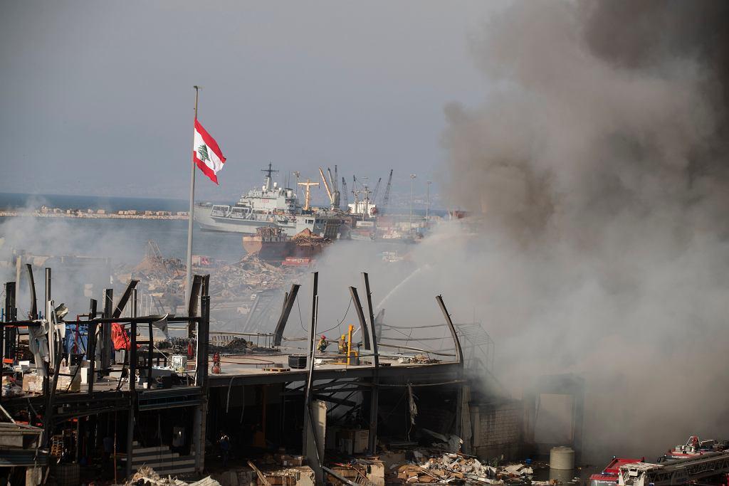 Pożar w Bejrucie