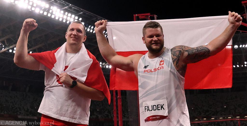 Wojciech Nowicki i Paweł Fajdek na igrzyskach w Tokio.