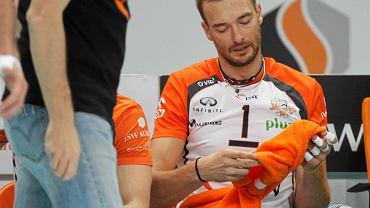 Michał Łasko podczas meczu z Zaksą