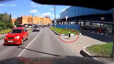 Nagranie z kamery samochodowej