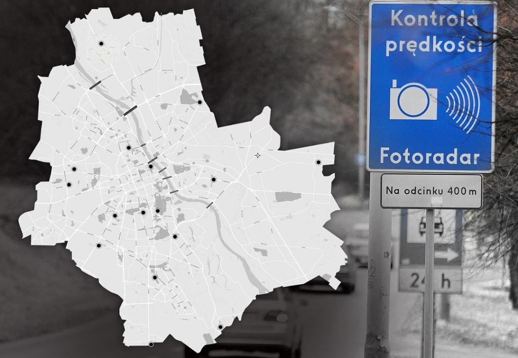 Fotoradary w Warszawie