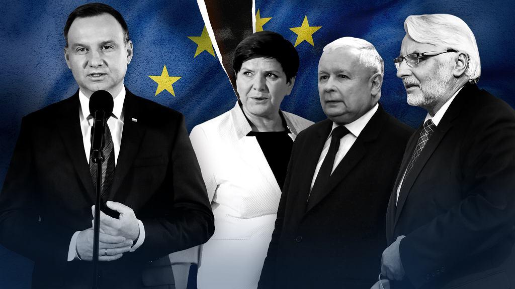 Andrzej Duda, Beata Szydło, Jarosław Kaczyński i Witold Waszczykowski