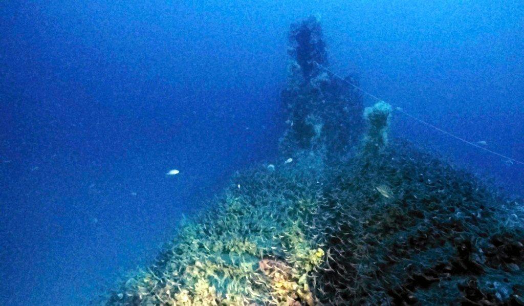 Okręt zatonął po wejściu na minę