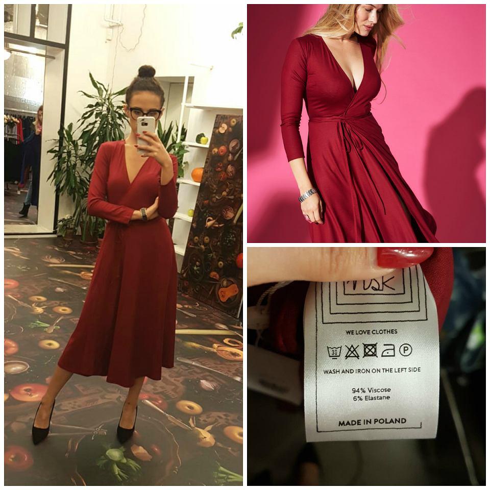 bordowa sukienka Risk Made in Warsaw