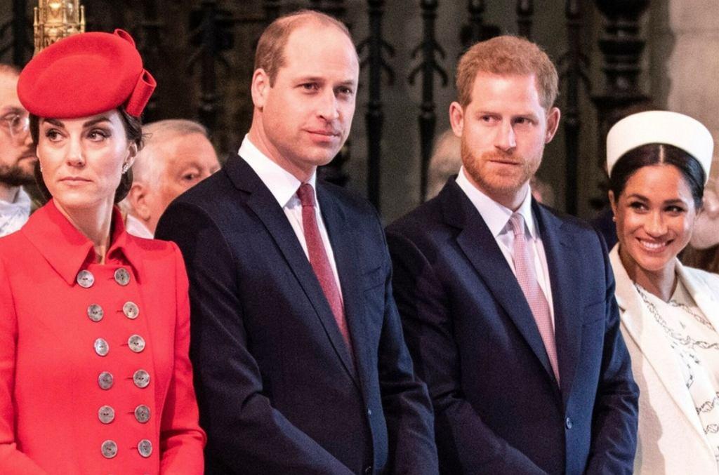 Książę Harry, Meghan Markle. Księżna Kate, Książę William