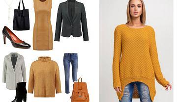Musztardowe ubrania - gotowe stylizacje na jesień/zimę