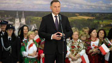 Kulesze Kościelne. Prezydent RP Andrzej Duda w środę (27 listopada) odwiedził powiat wysokomazowiecki - jedną z ostoi PiS w Podlaskiem