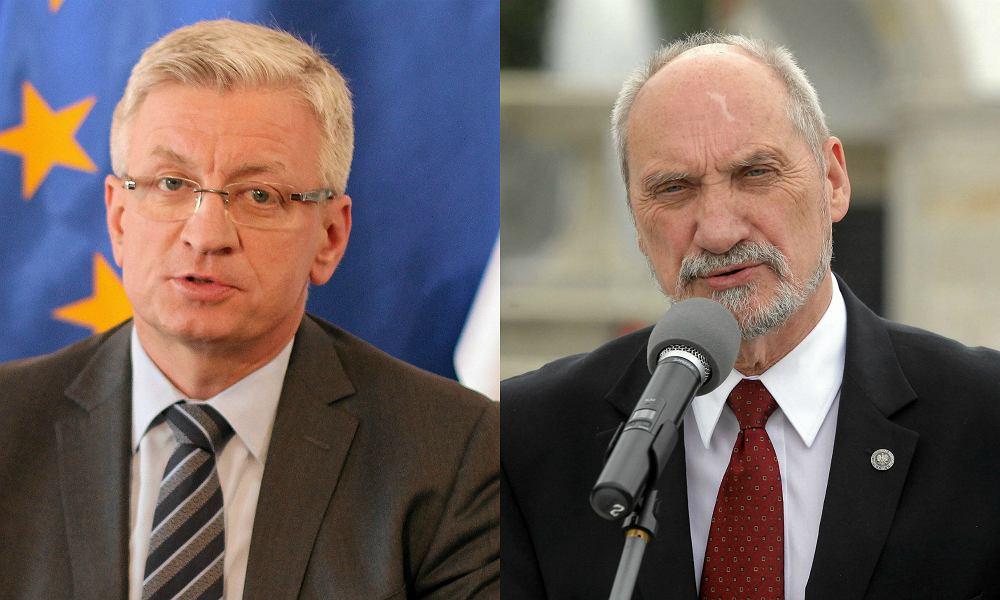 Prezydent Poznania Jacek Jaśkowiak i szef MON Antoni Macierewicz
