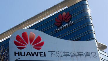 Budynek firmy Huawei w Dongguan w prowincji Guangdong. Chiny, 17 stycznia 2019