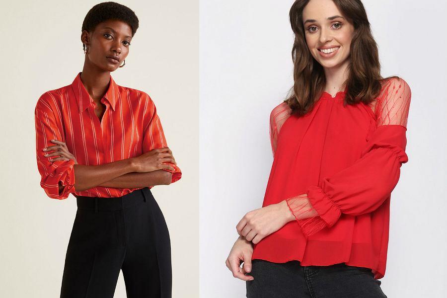 czerwone bluzki i koszule