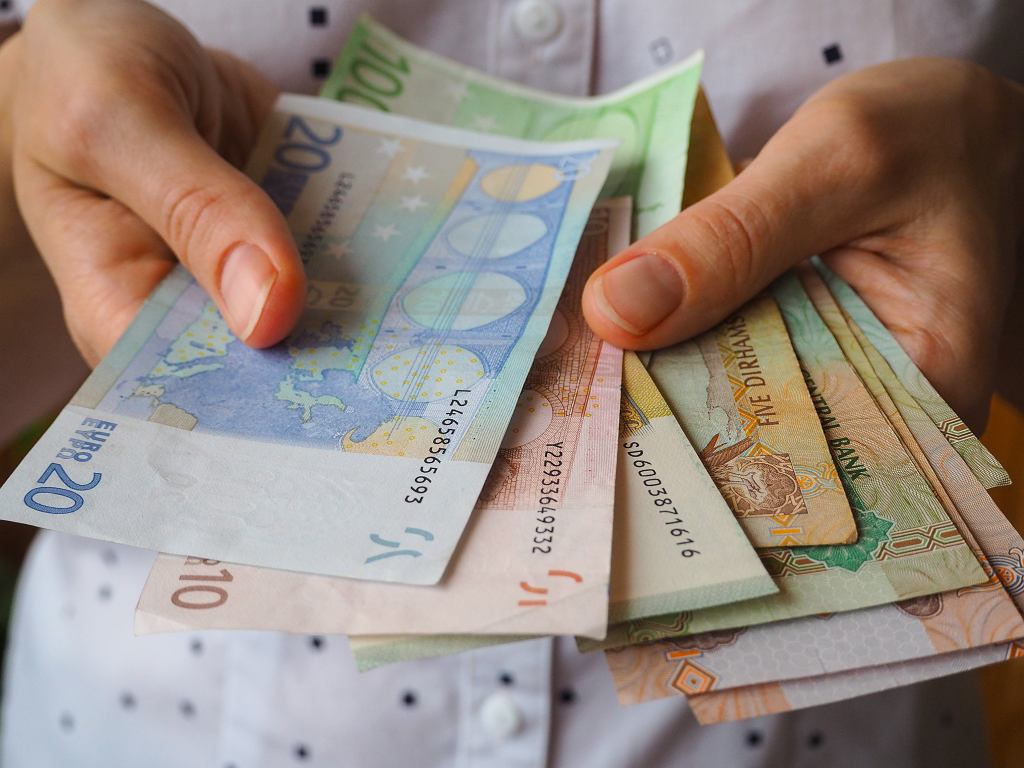 Banknoty euro, zdjęcie ilustracyjne