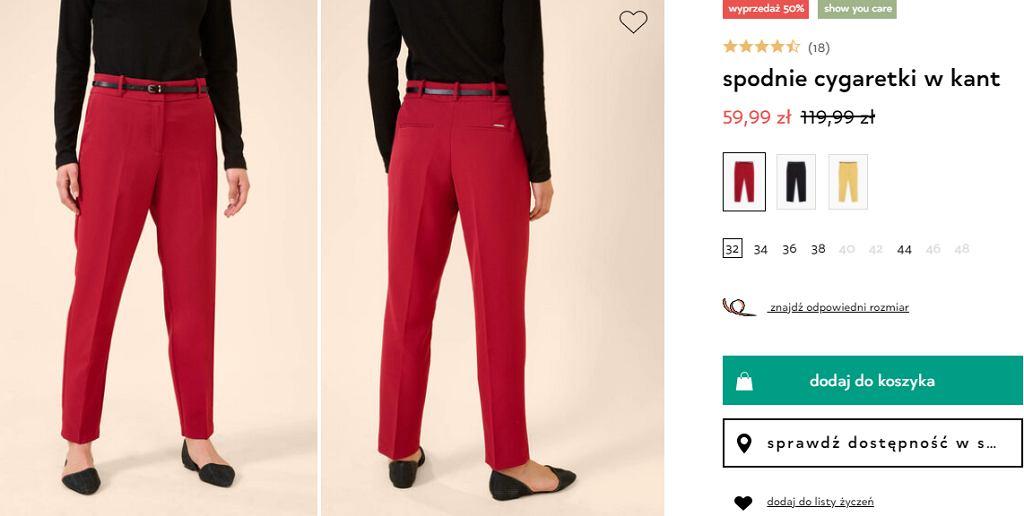 spodnie cygaretki Orsay