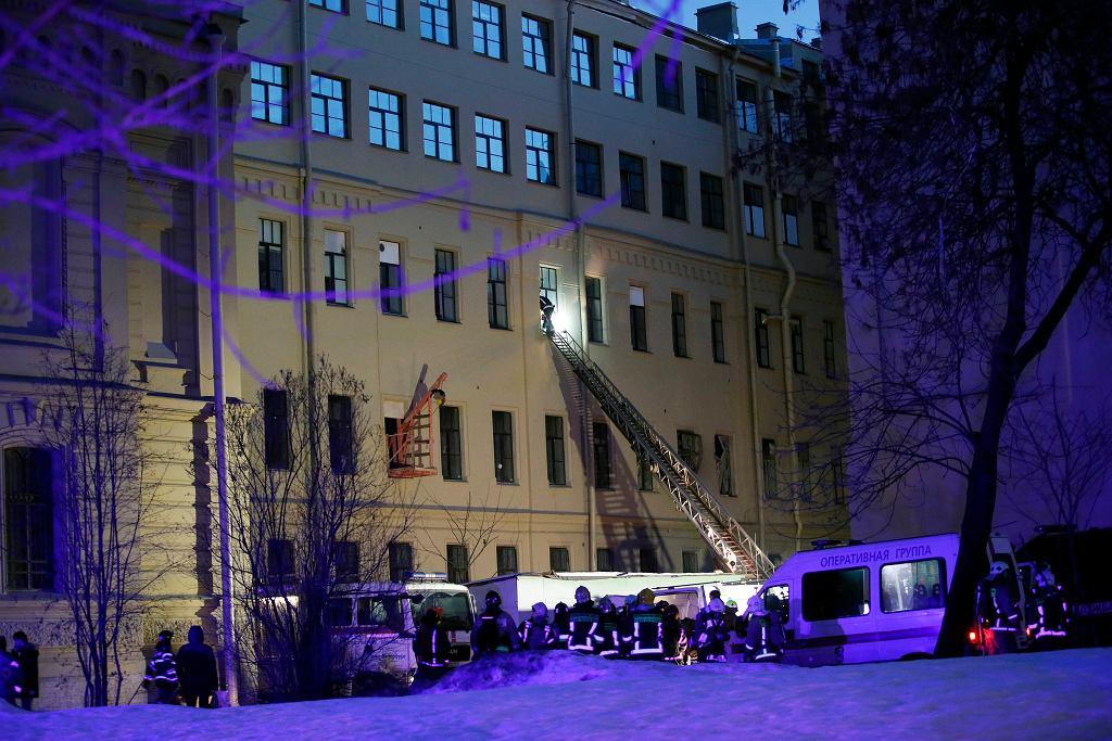 Sankt Petersburg. Zawalenie się budynku uniwersytetu