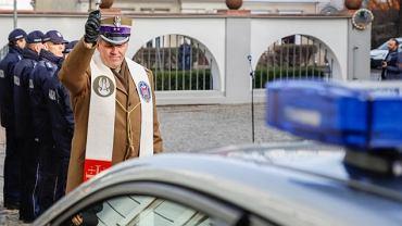 Policyjne Nissany Leaf w Kielcach (uroczystość odbioru aut 16.12.2019 r.)