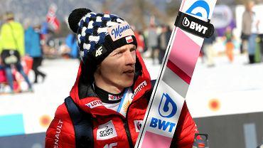 Dawid Kubacki podczas mistrzostw świata w Seefeld