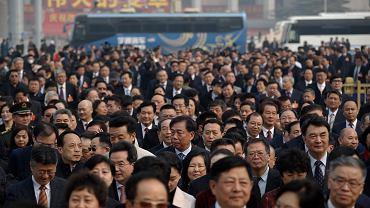 Chiny. Delegaci na Ludową Polityczną Konferencję Konsultatywną Chin, instytucję doradczą władz państwa