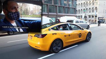 Tesla Model 3 jako nowojorska taksówka i kierowca Rami