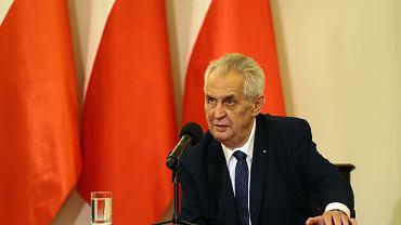 Prezydent Republiki Czeskiej Milosz Zeman