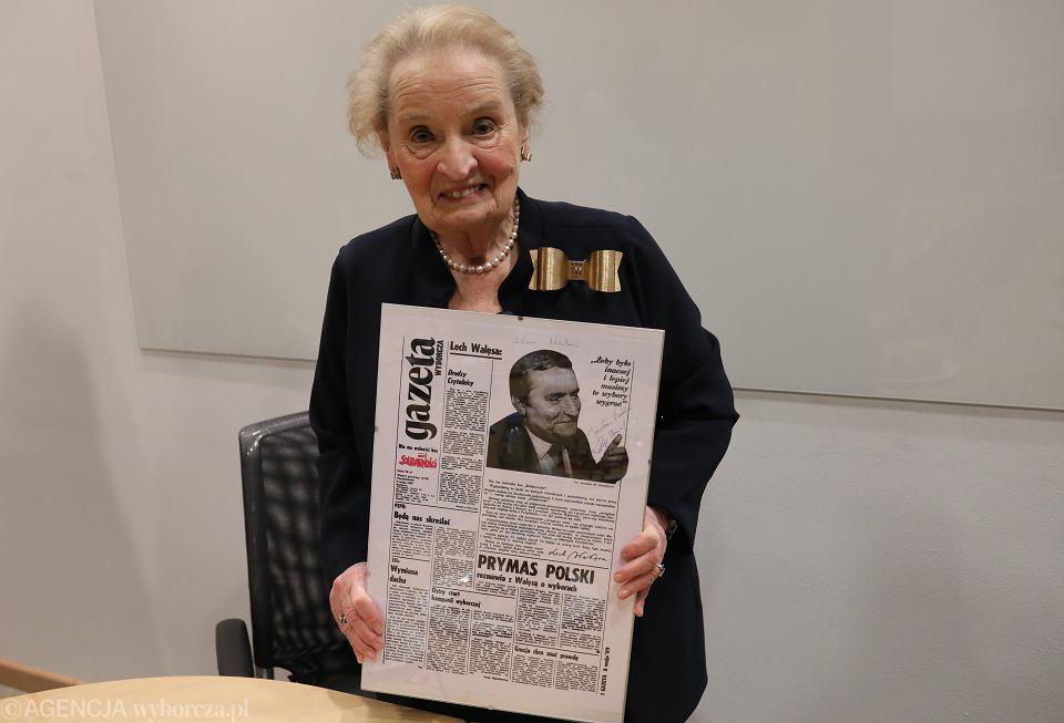 7.03.2019, Warszawa, Madeleine Albright w redakcji 'Gazety Wyborczej'