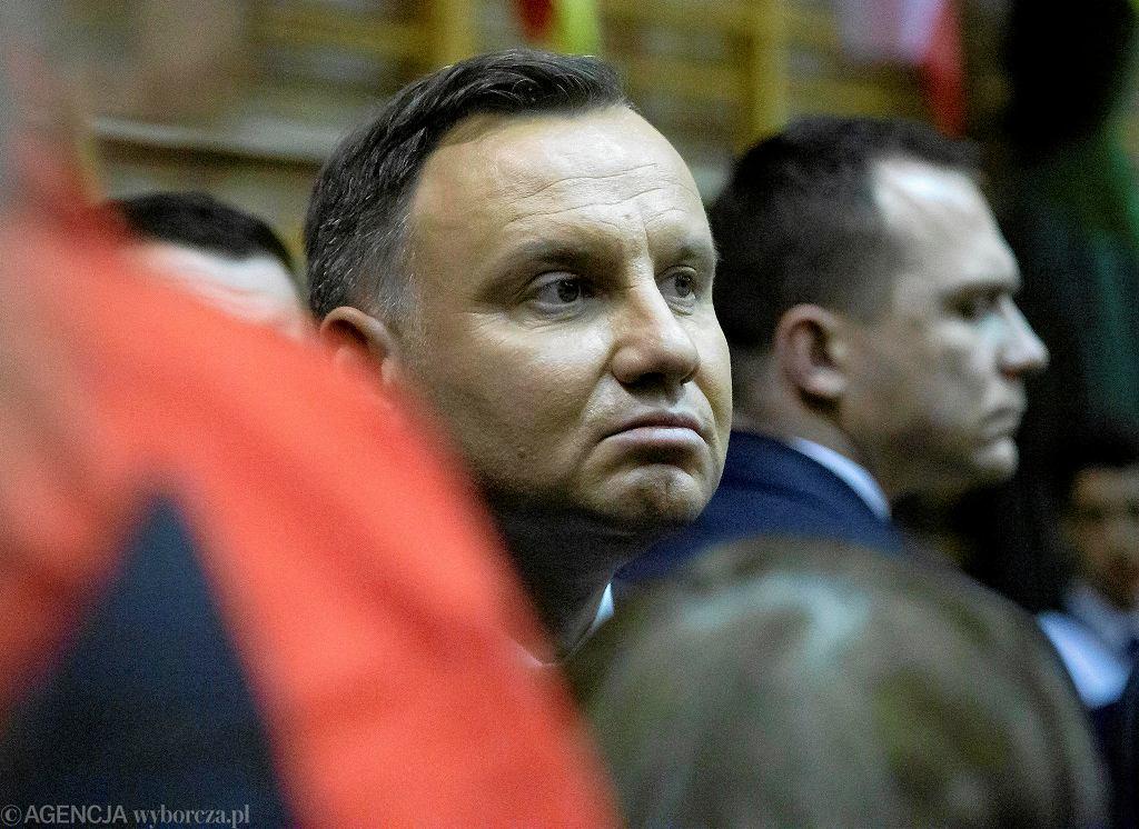 Wybory prezydenckie 2020. Wizyta prezydenta Andrzeja Dudu w Kolnie