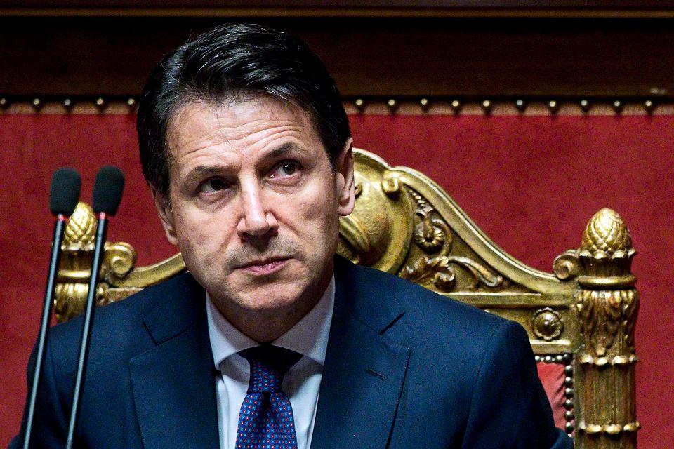 Nowy premier Włoch Giuseppe Conte wygłasza swoje exposée. Rzym, 5 czerwca 2018 r.