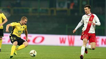 Lukas Bielak (z prawej) strzelił gola dla ŁKS