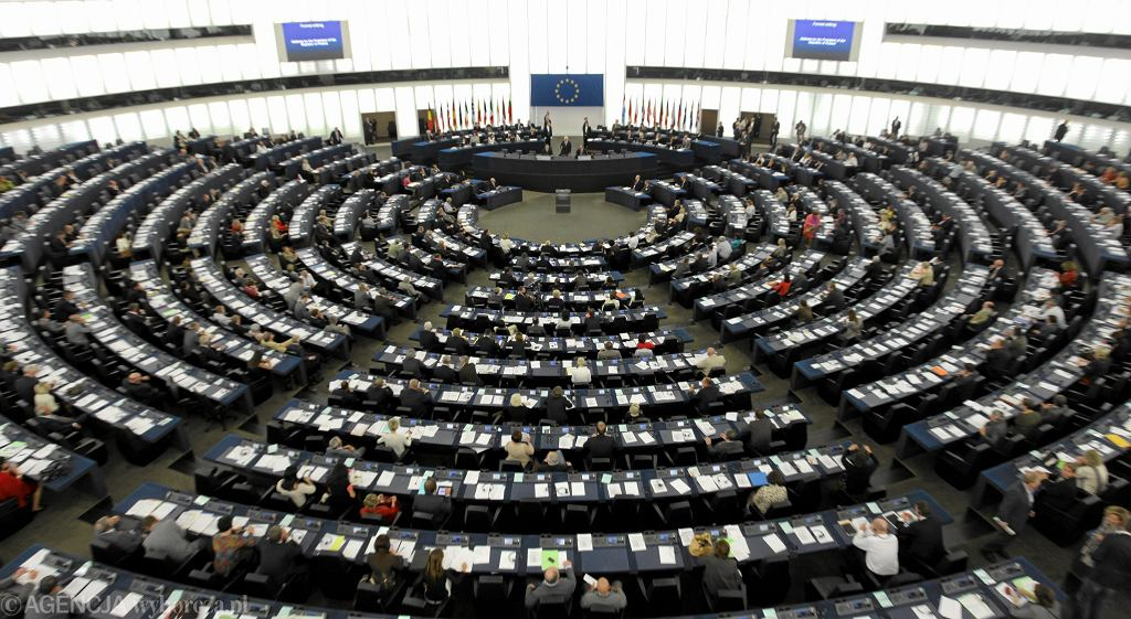 Parlament Europejski w Strasburgu. Sala plenarna
