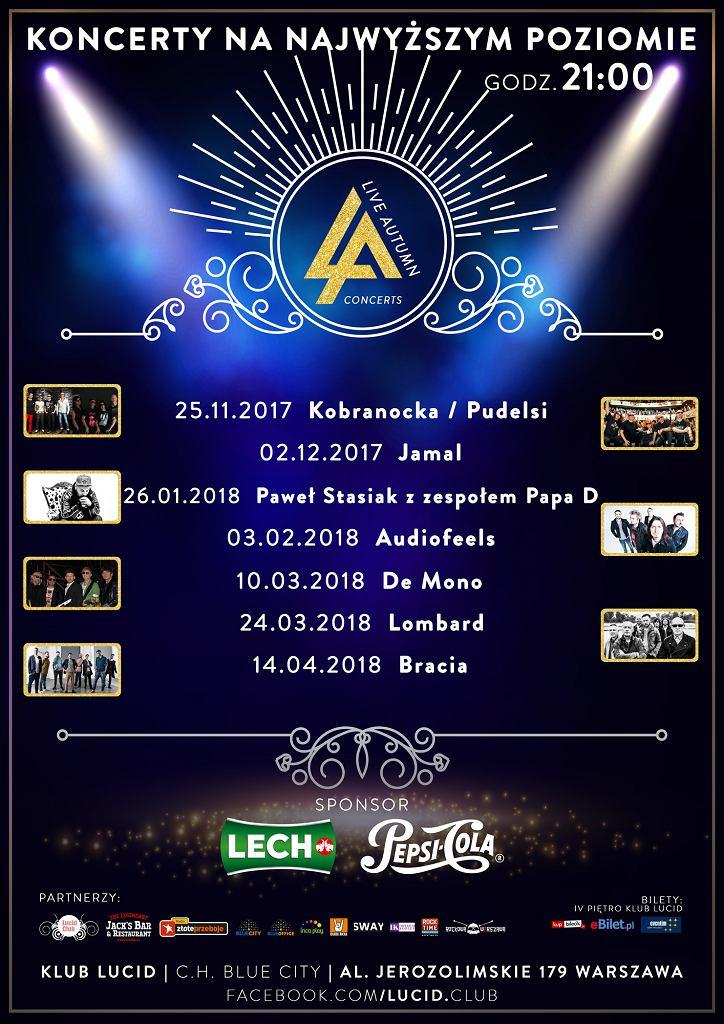 Koncerty w klubie Lucid w Warszawie