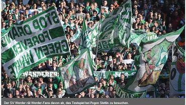 Werder na oficjalnej stronie ostrzega swoich kibiców przed podróżą do Szczecina