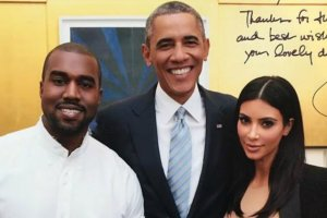 Kanye West, Barack Obama, Kim Kardashian