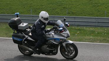 Legionowo. Kolizja w kolumnie policyjnych motocykli / Zdjęcie ilustracyjne